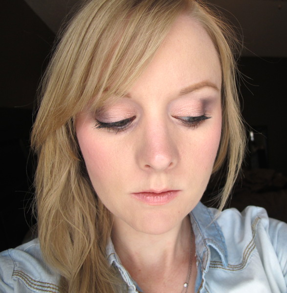 Too Faced Pretty Rebel Eye Shadow look in Dainty, Ringleader, Gangsta, and Charming