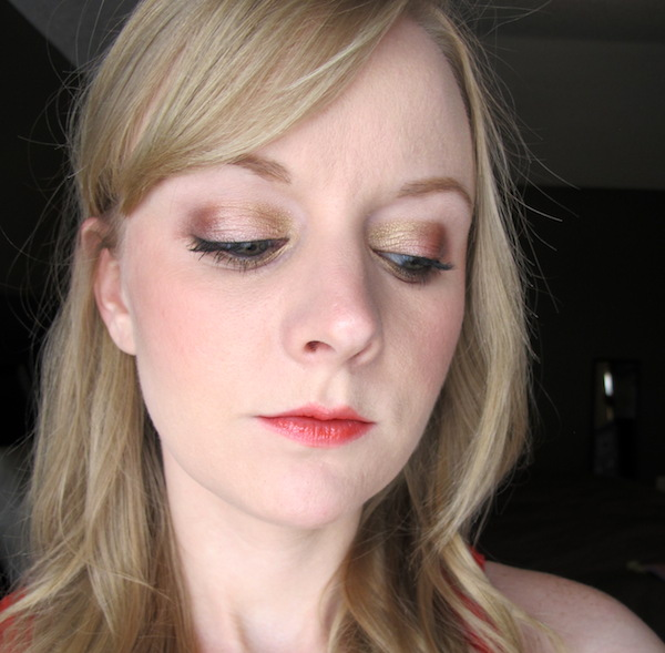 Too Faced Pretty Rebel Eye Shadow look in Dainty, Ringleader, Girly, and Instigator