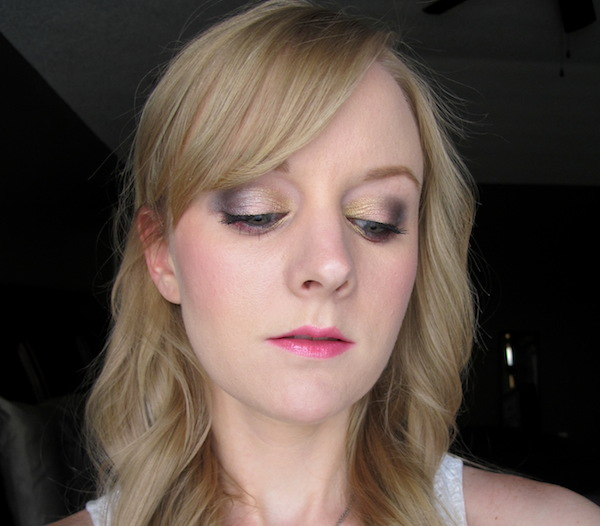Too Faced Pretty Rebel Eye Shadow look in Dainty, Ringleader, Badass, Instigator, and Totally Fetch