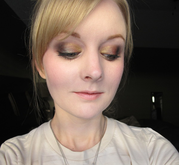 Too Faced Pretty Rebel Eye Shadow look in Dainty, Girly, Miss Sparkles, and Instigator
