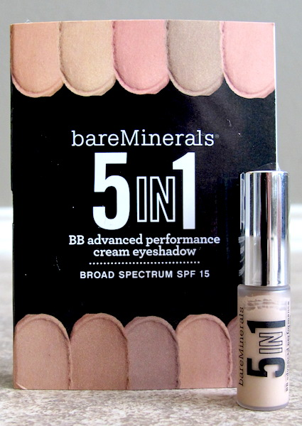 bareMinerals 5-in-1 BB Advanced Performance Cream Eyeshadow Broad Spectrum SPF 15 in Barely Nude 0.03 oz, $5.40 value