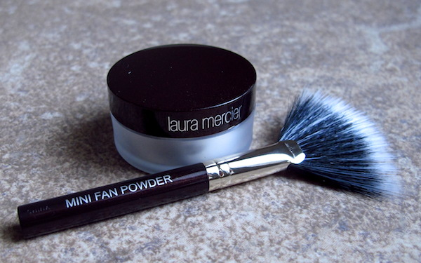 Laura Mercier Loose Setting Powder (0.03 oz, $1.11 value) and Mini Fan Powder Brush