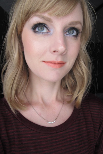 Finished look with NARS Blush in Nico all over face