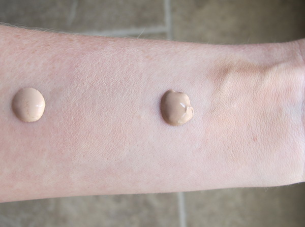 Hourglass Immaculate Liquid Powder Foundation Swatches in Vanilla and Nude